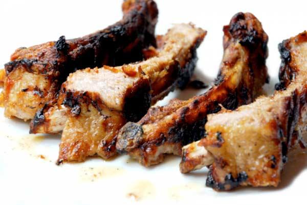 Costillas de cerdo Ibérico con salsa barbacoa