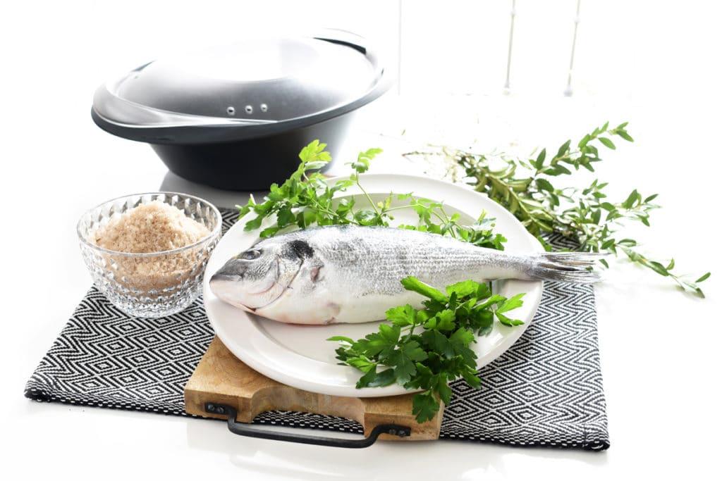 Dorada a la sal, antes de cocinar