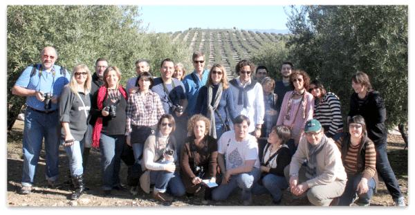 Blogueros en Jaen, disfrutando del buen aceite