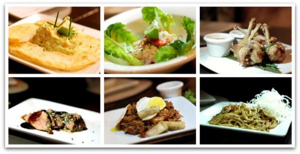 Algunos de los platos que degustamos en Wogaboo