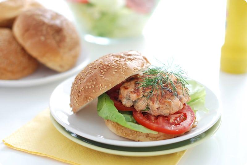 Hamburguesa de salmón