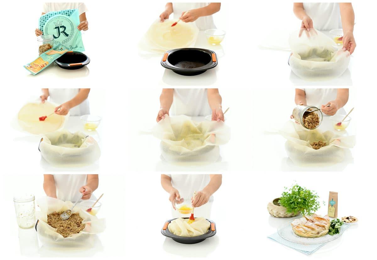 Pastela marroquí con Thermomix®, paso a paso